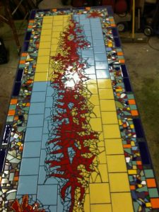 Broken Tile Table Mosaic another view