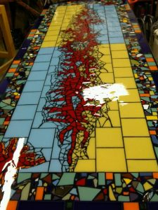 Broken Tile Table Mosaic
