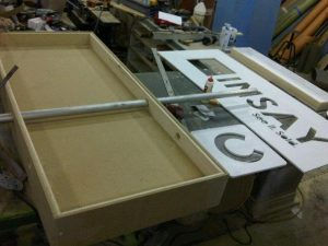 Cinsay Standing Sign in the works