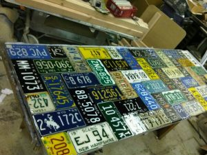 License Plate Table rectangle