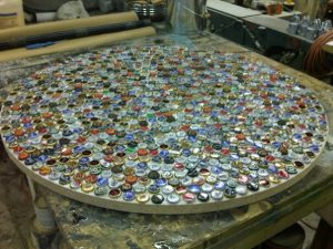 Bottle Cap Table in progress