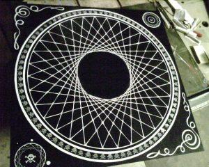 Pin Wheel Table